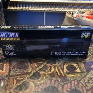 """New 1"""" hot tools hair straightener, never used."""